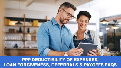Thumb - PPP Deductibility of Expenses, Loan Forgiveness, Deferrals & Payoffs FAQs